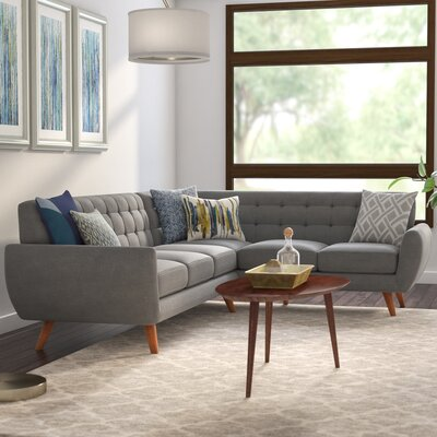 Felicity Sectional Upholstery: Gray