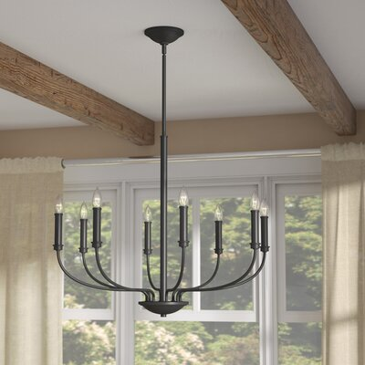 Kieu 8-Light Candle-Style Chandelier Finish: Buckeye Bronze