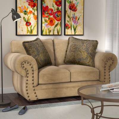 Channahon Simmons Stuart Loveseat Upholstery Color: Tan