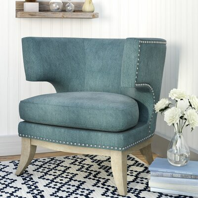 Sandra Barrel Chair Upholstery: Blue