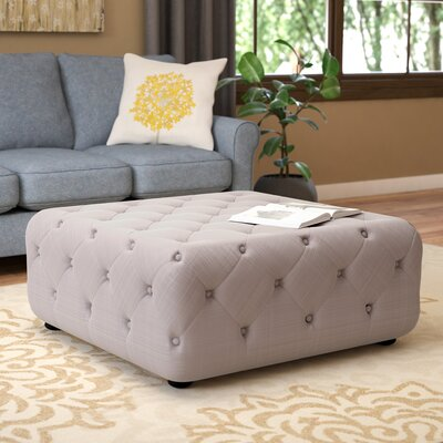 Grothe Cocktail Ottoman Upholstery: Beige