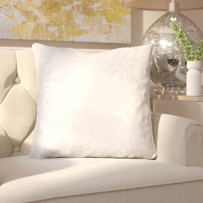 Helena Stich Throw Pillow Color: Flint Gray/Sky Gray, Fill Material: Down