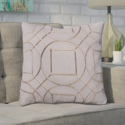 Lambda Linen Throw Pillow Size: 22 H x 22 W x 4 D, Color: Charcoal