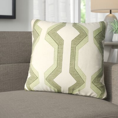 Bennie Cotton Throw Pillow Color: Green