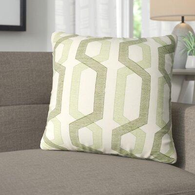 Alphonso Cotton Throw Pillow Color: Green