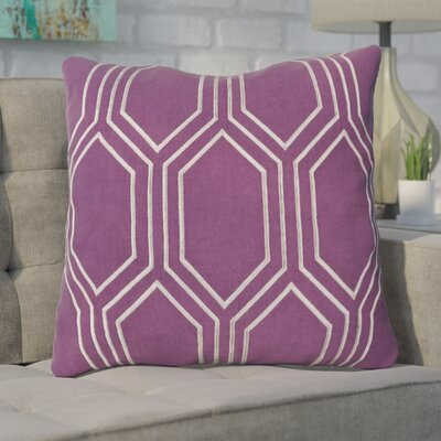 Lambda Down Fill Linen Throw Pillow Size: 20 H x 20 W x 4 D, Color: Eggplant