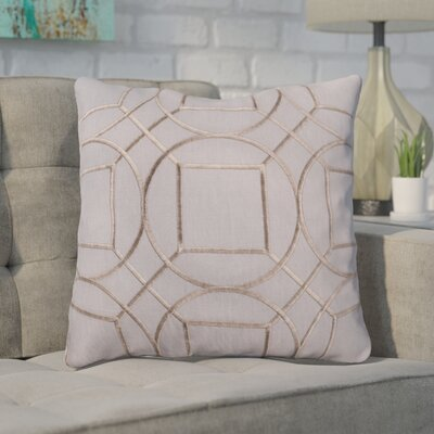 Lambda Square Linen Throw Pillow Size: 22 H x 22 W x 4 D, Color: Charcoal