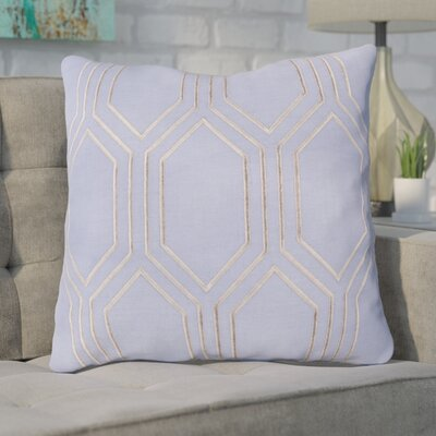 Lambda Down Fill Linen Throw Pillow Size: 20 H x 20 W x 4 D, Color: Sky Blue