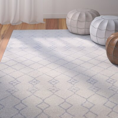 Nde Transitional Ivory/Gray Area Rug Rug Size: 22 x 311
