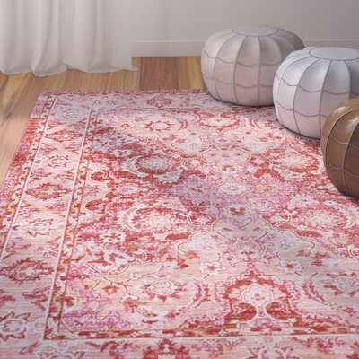 Lyngby-Taarb�k Garnet Area Rug Rug Size: Rectangle 53 x 73