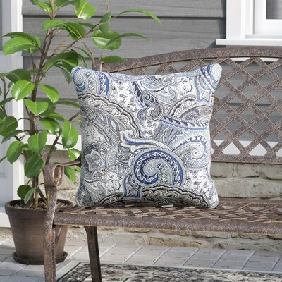 Bellwood Indoor/Outdoor Throw Pillow Color: Blue