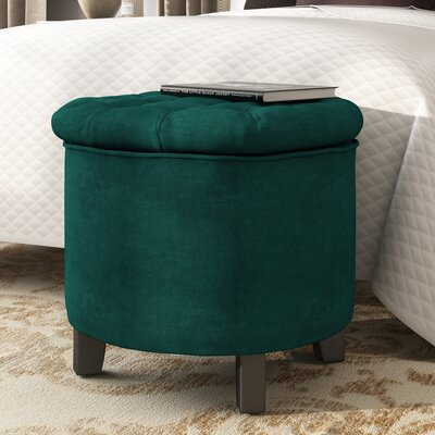 Hargrave Tufted Storage Ottoman Upholstery: Marine