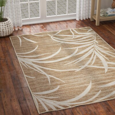 Spathariko Beige Indoor/Outdoor Area Rug Rug Size: Rectangle 7 x 10