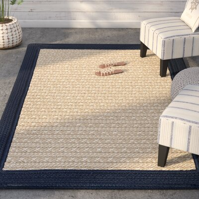 Dartmouth Hand-Woven Navy Indoor/Outdoor Area Rug Rug Size: 6 x 9