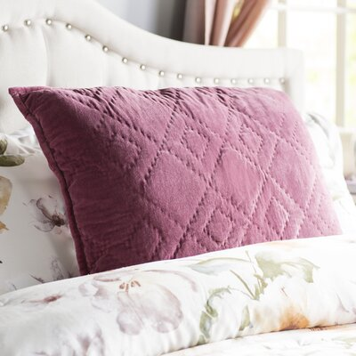 Hanks Sham Size: Standard, Color: Mauve