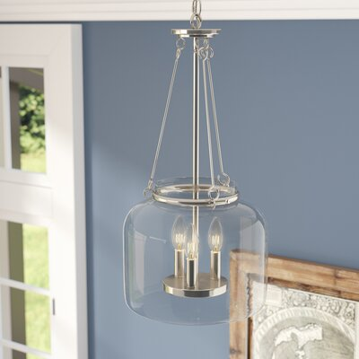 Jean-Baptiste 3-Light Foyer Pendant Finish: Polished Nickel