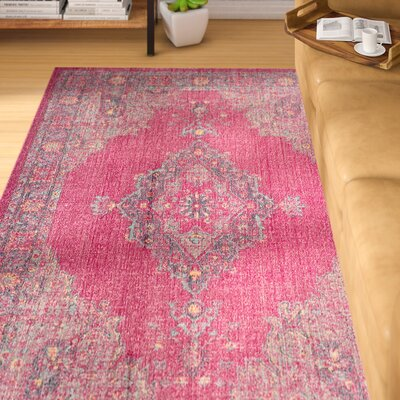 Bunn Fuchsia/Navy Area Rug Rug Size: Rectangle 51 x 76