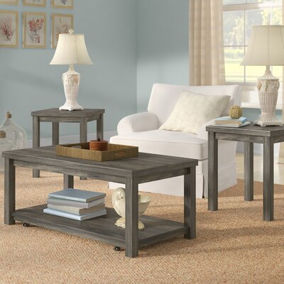 Nashua 3 Piece Coffee Table Set Color: Dove Gray