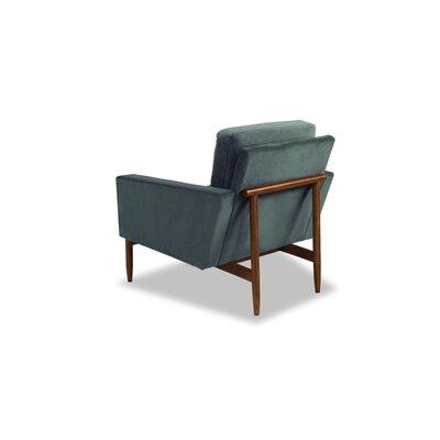 Ezra Armchair Upholstery: Neptune Velvet, Leg Finish: Walnut