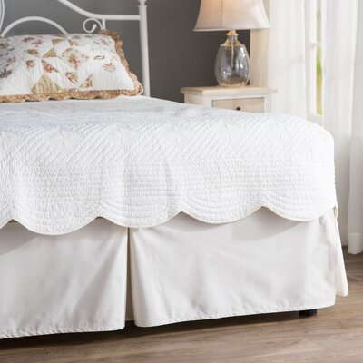 Gwinner Tailored Bed Skirt Size: Queen, Color: Ivory