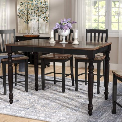 Sisson Counter Height Dining Table Color: Antique Black