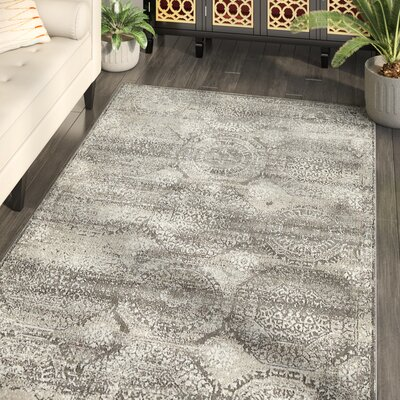 Hurst Gray Area Rug Rug Size: Rectangle 7 x 10