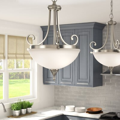 Bretton 2-Light Inverted Pendant Size: 25 H x 17.5 W