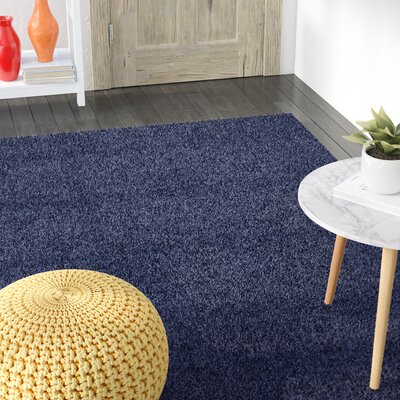 Korte Slate Blue Area Rug Rug Size: Rectangle 8 x 10