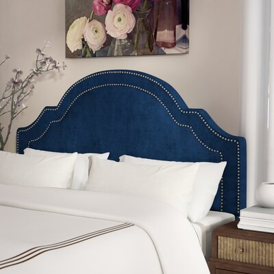 Konnor Upholstered Panel Headboard Upholstery: Navy
