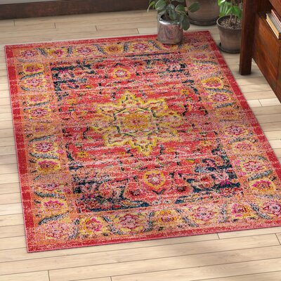 Duravit Multi-Colored Area Rug Rug Size: Rectangle 5 x 8
