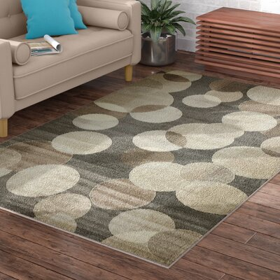 Chenango Rectangle Gray Area Rug Rug Size: Rectangle 5 x 8