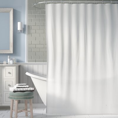 5 Gauge Shower Curtain Liner Color: White