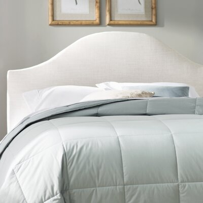 Curved Upholstered Panel Headboard Size: Queen, Upholstery: Talc