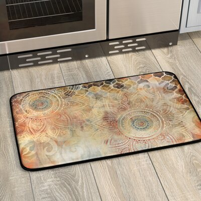 Willow Antiqued Blooms Kitchen Mat Mat Size: 16 x 26