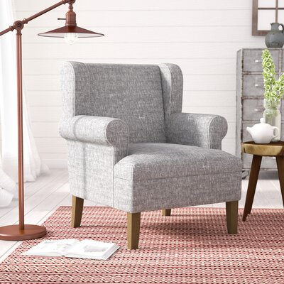 Gargilesse Emerson Wingback Chair Finish: Gray Washed / Marbled Gray