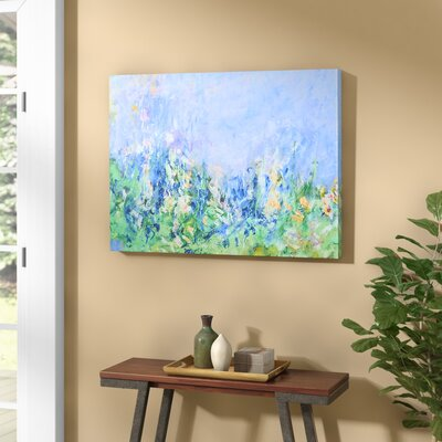 Lavender Fields by Claude Monet Framed on Canvas Size: 24