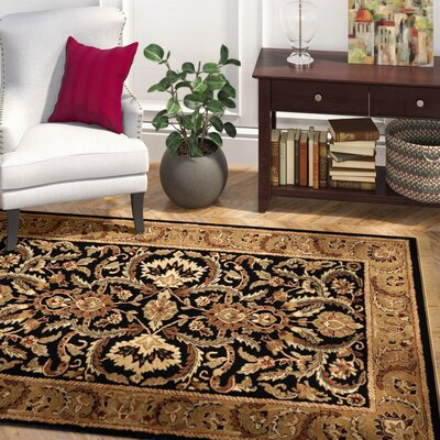 Gattis Hand-Tufted Black/Beige Area Rug Rug Size: Rectangle 5 x 8