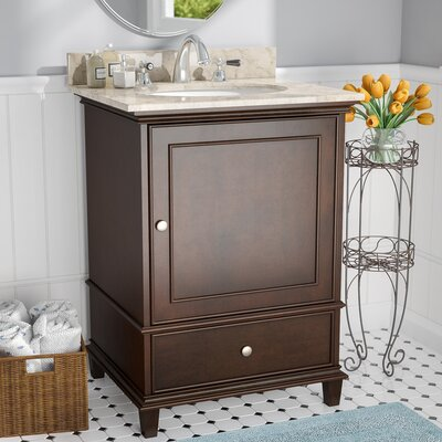 Chippewa 25 Single Bathroom Vanity Set Base Finish: Walnut