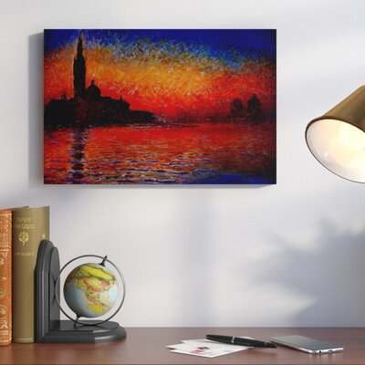 Sunset by Claude Monet Painting Print on Canvas Size: 26