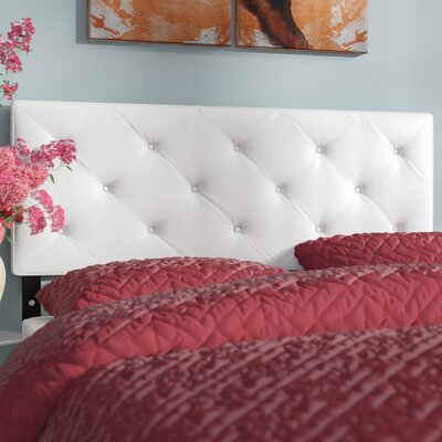Orlando Panel Headboard Size: Full, Upholstery: White