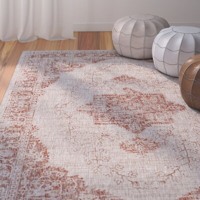 Fonwhary Burnt Orange Area Rug Rug Size: Rectangle 2' x 3'