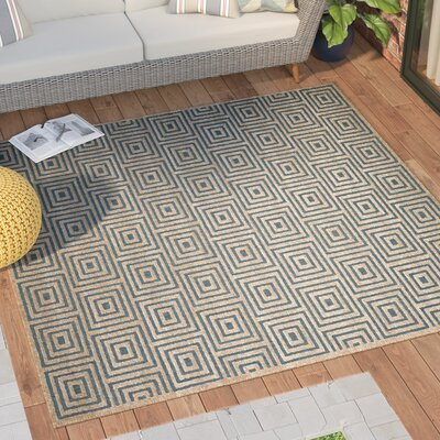 Candor Blue Outdoor Area Rug Rug Size: Square 67