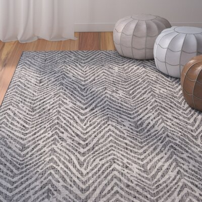 Fonwhary Gray Indoor/Outdoor Area Rug Rug Size: Rectangle 53 x 76