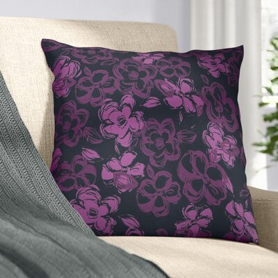 Russian Ballet Throw Pillow Size: 16 x 16, Color: Black/Purple