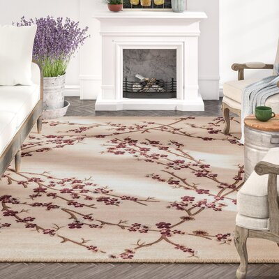 Tiago Cream Indoor/Outdoor Area Rug Rug Size: 5 x 7
