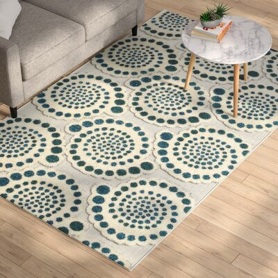 Elton Cream Indoor/Outdoor Area Rug Rug Size: Rectangle 6 x 9