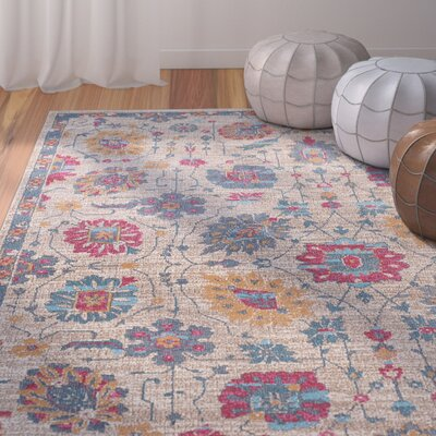 Dominick Modern Rectangle Beige Area Rug Rug Size: Rectangle 710 x 103
