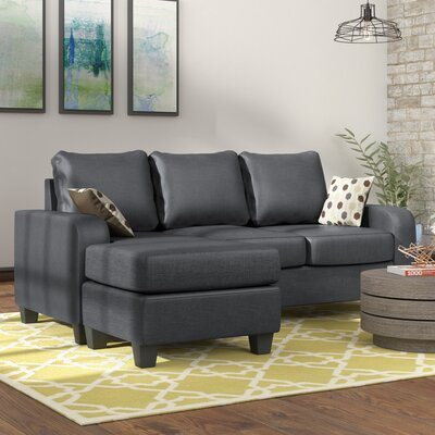 Morpheus Sectional Upholstery: Stoked Black / Synchronicity Black