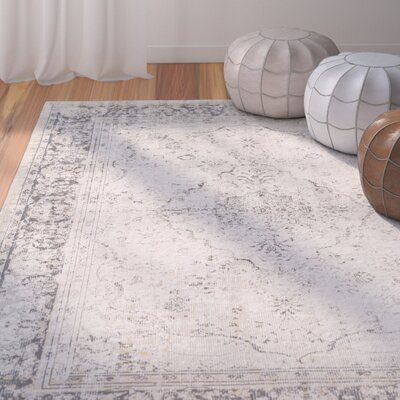 Jazzerus Classic Beige/Taupe Area Rug Rug Size: Rectangle 53 x 73