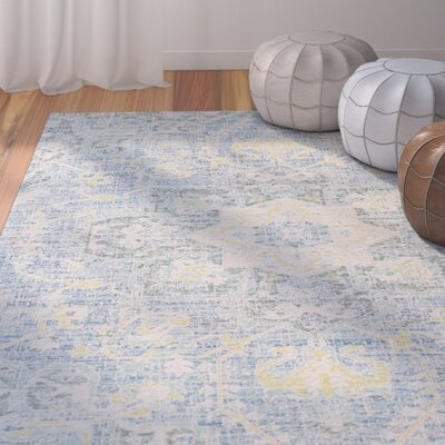 Lyngby-Taarb�k Aqua/Bright Yellow Area Rug Rug Size: Rectangle 710 x 103